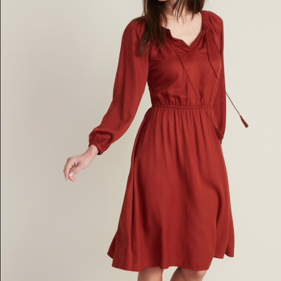 Old Navy Dresses & Skirts - Old Navy Tassel-Tie Boho Midi Dress NWT Size XXL